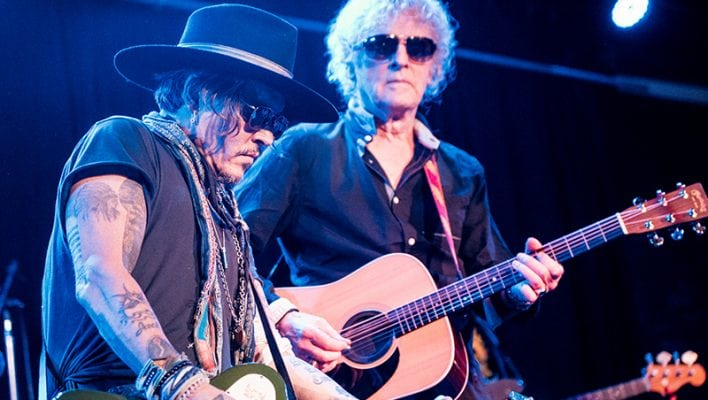 IAN HUNTER and JOHNNY DEPP; photo James Christopher