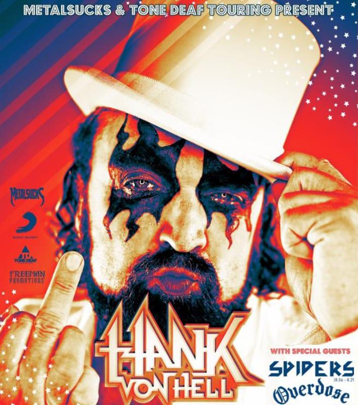 HANK VON HELL 2019 tour poster