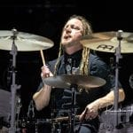 Shinedown drummer Barry Kerch; photo Reuben Martinez