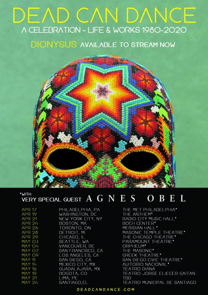 Dead Can Dance tour poster 2020