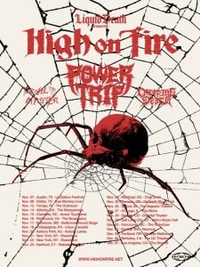 High On Fire tour flyer