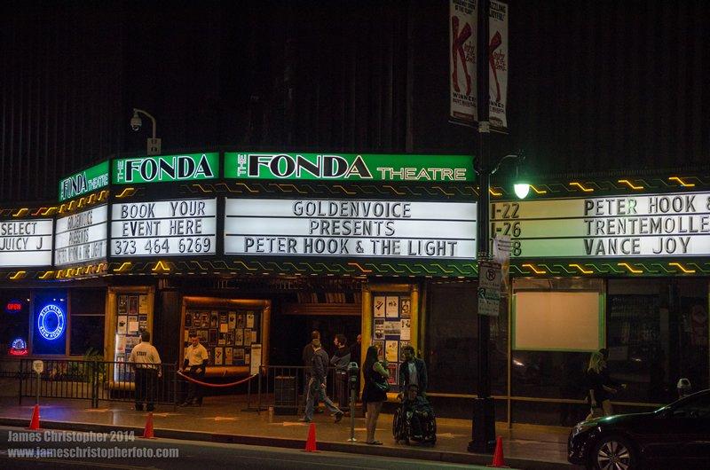 Peter Hook & The Light @ The Fonda Theatre Nov 22