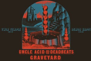 """Uncle Acid & The Deadbeats and Graveyard """"Peace Across the Wasteland"""" tour poster"""