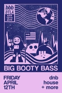 Big Booty Bass event flyer
