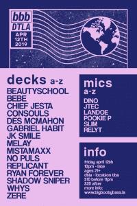 Big Booty Bass event flyer lineup
