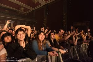 Audience at Adam Lazzara-TAKING BACK SUNDAY-Observatory North Park; photo Lauren Ratkowski