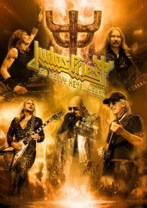 JUDAS PRIEST 50 Heavy Metal Years tour poster