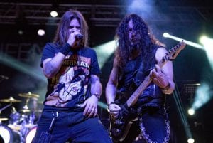 QUEENSRYCHE Todd La Torre (vocals) Michael Wilton (guitar); photo Reuben Martinez