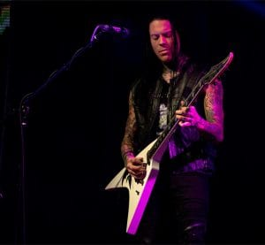 QUEENSRYCHE Parker Lundgren (guitar); photo Reuben Martinez