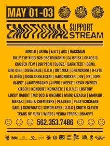Emotional Support Stream lineup